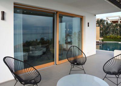 Navello finestra legno scorrevole alzante vista esterna