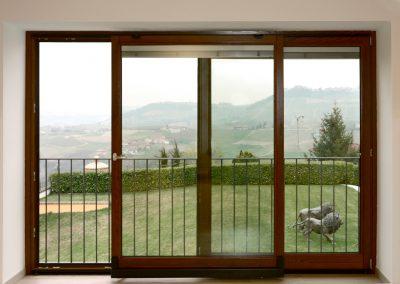 Navello finestra legno scorrevole complanare interna